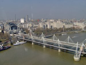 A Hungerford híd a London Eye-ról nézve