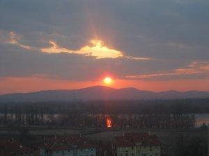 Naplemente a Duna felett