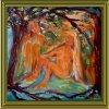 Erotic1 30x30 cm olaj ,vászon