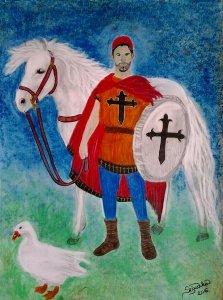 A fiatal Szent Márton(illusztráció gyerekeknek)