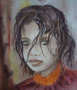 Kócoska      48 x 33 aqvarell ceruza