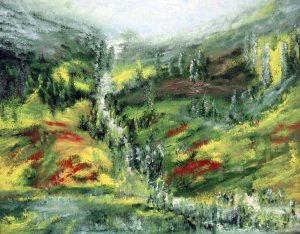 a völgyben szaladó patak