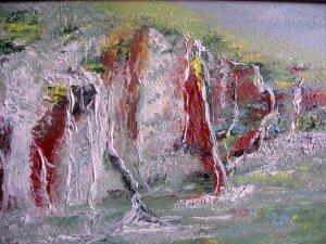 Vízfolyás a sziklán