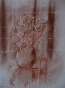 Virágzó almafaág