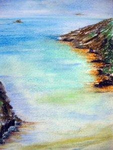 Sziklás part