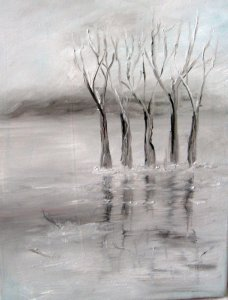 Tél a zebegényi Dunaparton
