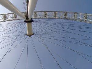 Békaperspektíva (a London Eye alulnézetből)