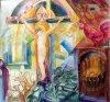 Jelenlét /3. /akvarell-pasztell, 50x60/