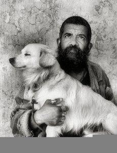 Koldus, kutyával