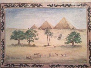 Expedíció El-Gízába, 1890-as illusztráció után