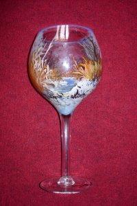 Üvegfestés akrillal pohár belső oldalára