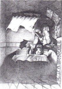 Illusztráció Iványi Mónika Bűntudat című verséhez